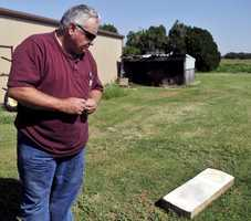 A Ringwood landowner who has tombstones of two Civil War soldiers is seeking the men's families. Photo from Enid News & Eagle