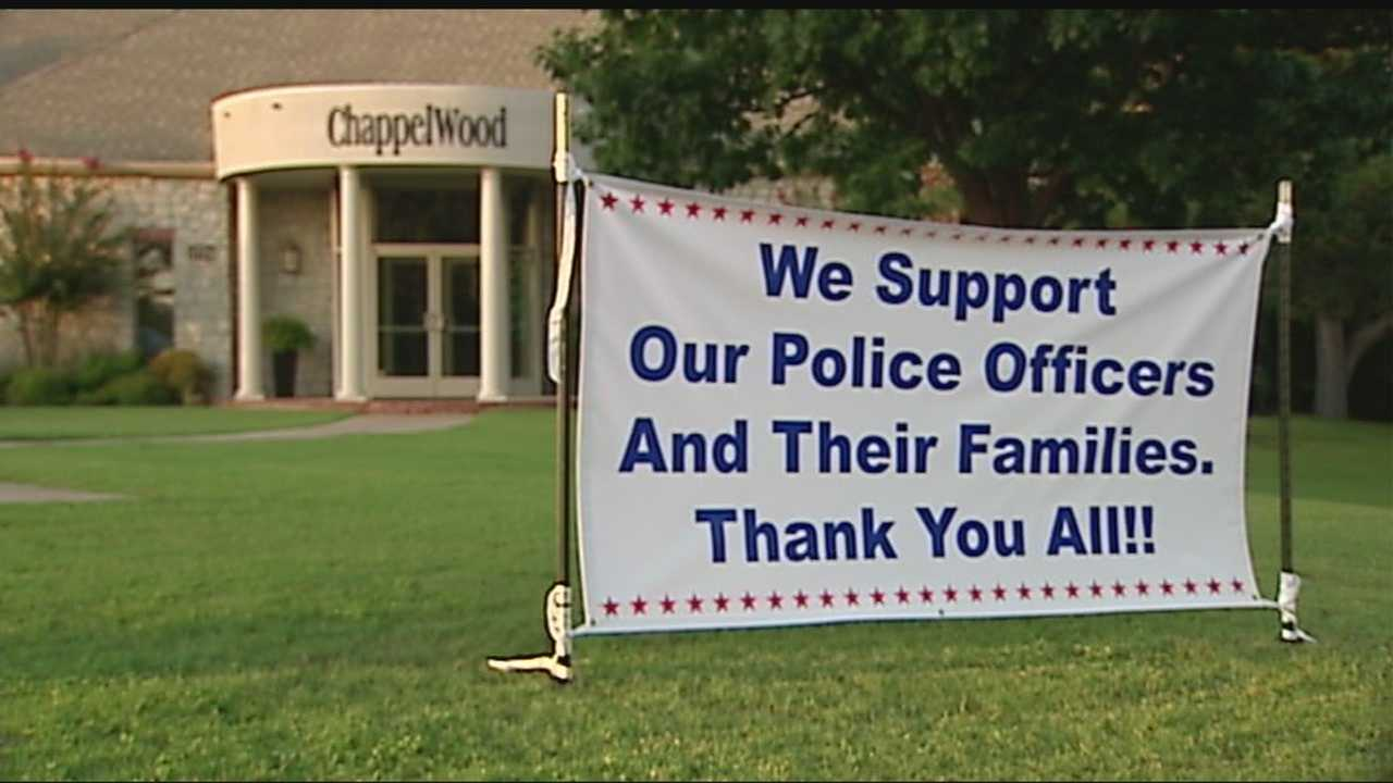 A local woman showed us her sign in support of law enforcement. Now her message is going nationwide.