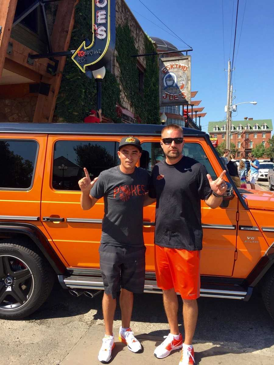Oklahoma State University graduate and pro golfer Rickie Fowler came to Stillwater in a distinct ride last weekend for OSU's game against Central Arkansas.