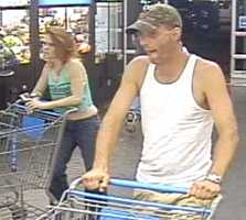 Oklahoma City police are searching for two people who used a stolen credit card to go shopping.