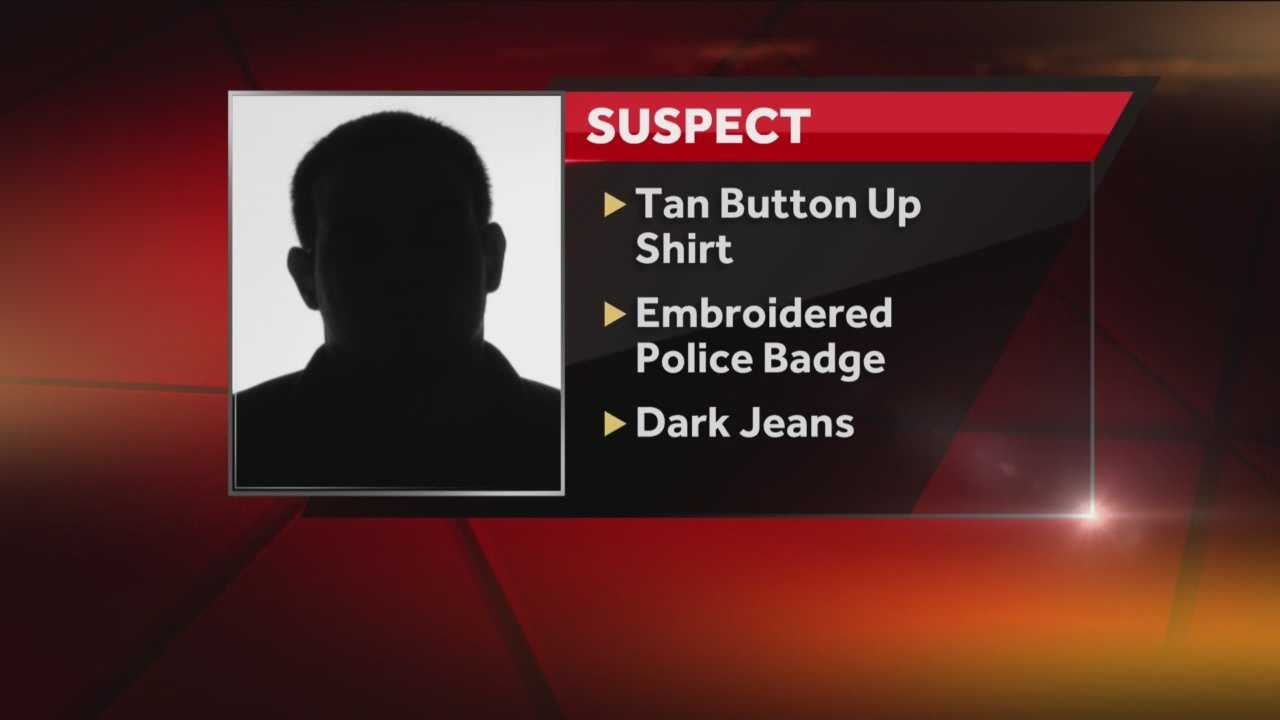 Edmond police want to warn residents about an impersonator in the area. A victim told police that she was pulled over by the man on Sept. 24 at around 10:30 p.m. on Broadway between Coffee Creek and Sorghum Mill. The victim told police the man had a gun and a knife. The impersonator asked for the victim's driver's license and insurance information, went back to his vehicle, then asked the victim to get out her vehicle.