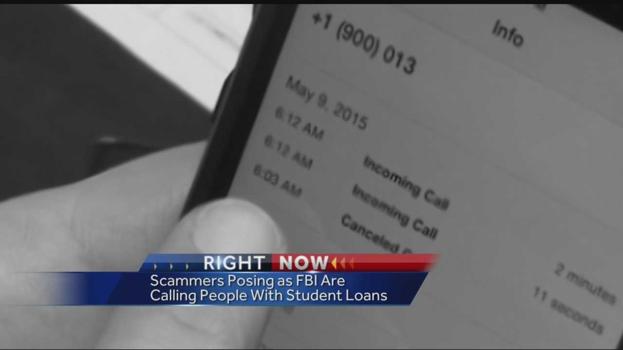 The FBI is warning people with student loans that a phone scam is going around, where people are posing as FBI agents and demanding potential victims to pay their student loans now.
