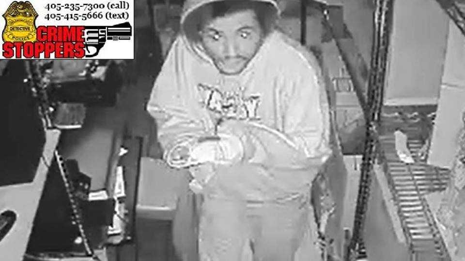 Oklahoma City police are searching for a man who burglarized a chicken restaurant in early October. Police said on Oct. 4, the man burglarized Golden Chick at 5800 S. Penn Ave. overnight.