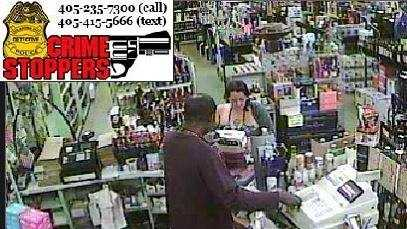Oklahoma City police need help identifying two peopled involved in the theft of a vehicle at a liquor store.