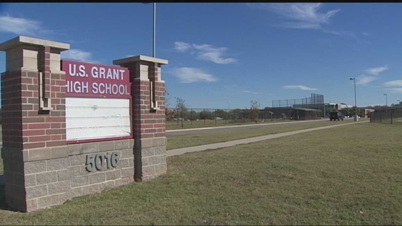 U.S. Grant High School was placed on lockdown and then a lockout Friday morning when a witness saw a group of people inside a suspicious vehicle in the parking lot. The witness said the group had what appeared to be a gun. The driver sped off when the principal approached the vehicle. The lockout was lifted around noon. Oklahoma City police have not found the vehicle or the group of people.