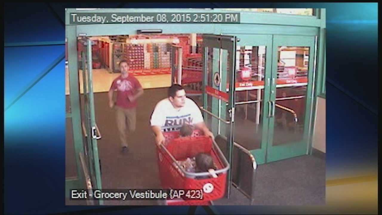 A couple accused of shoplifting from a metro Target store has been charged. Police identified the suspects as Timothy Drinkard and Keara Caskey. The two were seen leaving the store on Sept. 8 pushing a shopping cart with two children inside, along with stolen items.