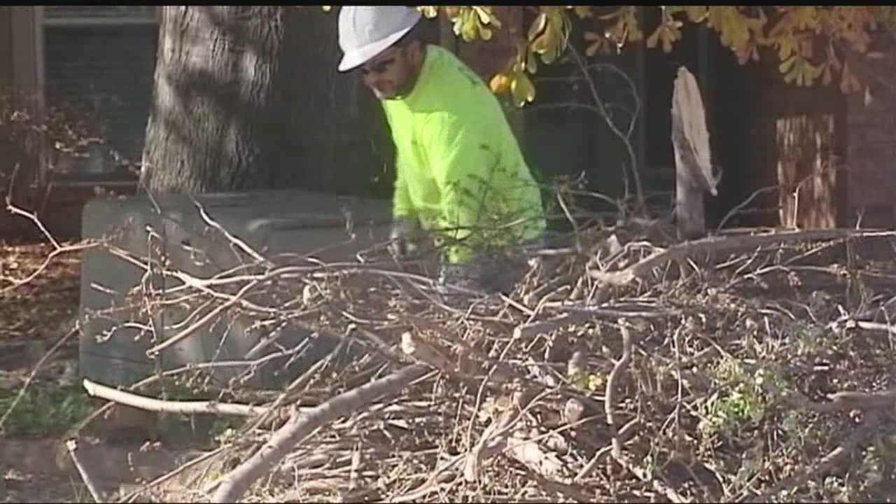 Cleanup crews from various Oklahoma City metro cities are starting to clean up debris from the ice storms that struck Oklahoma in late November.