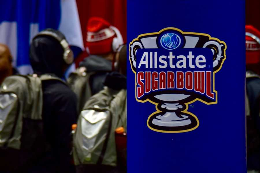 Take a look at images from the Sugar Bowl as Oklahoma State squares off against Ole Miss.