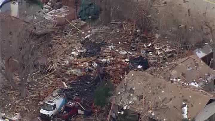 Raw video: Sky5 over Saturday morning's house explosion