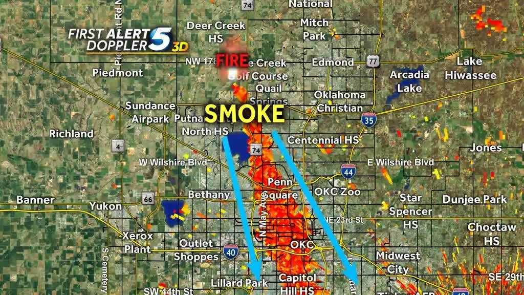Doppler radar can detect smoke from wildfires