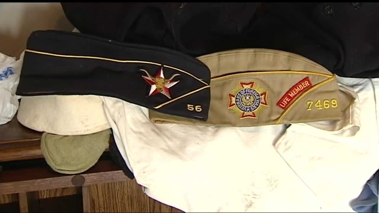 An Enid woman has a box full of Navy memorabilia, and she is hoping the Internet can help her find the man or family that the items belong to.
