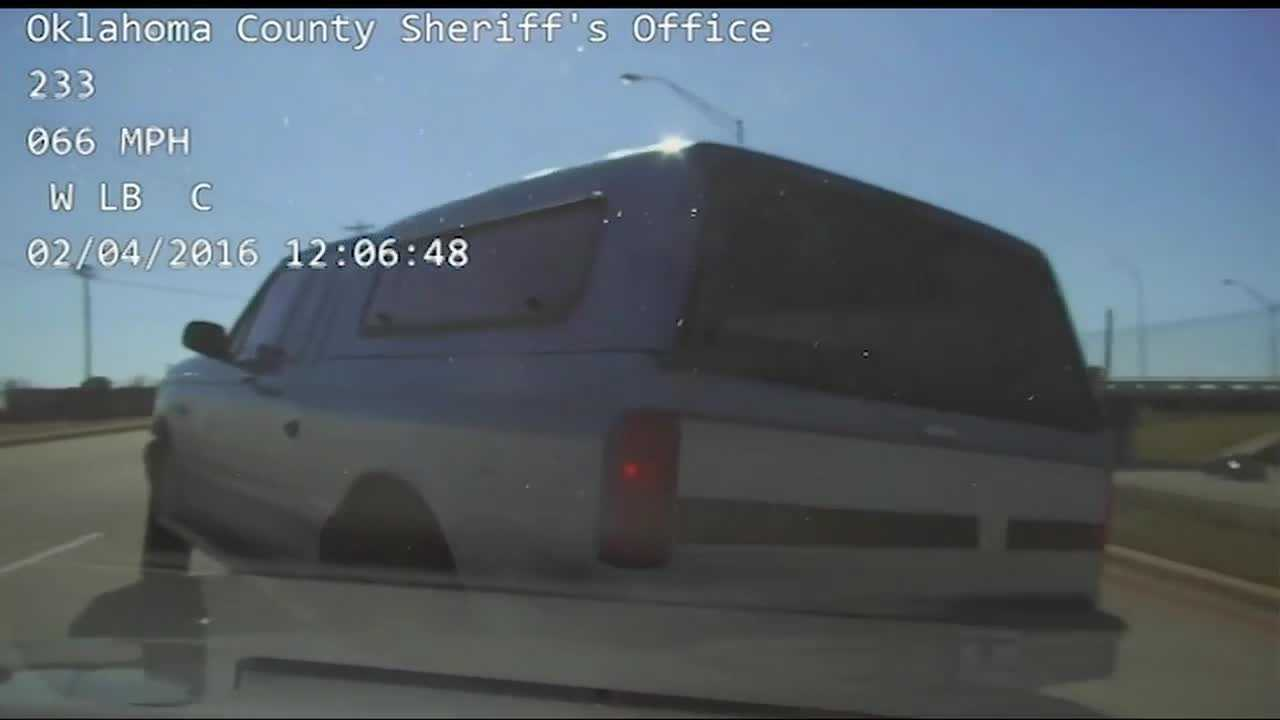 The Oklahoma County Sheriff's Office recently released dash camera video of a police chase where the suspect leads police down a wrong way access road in south Oklahoma City.