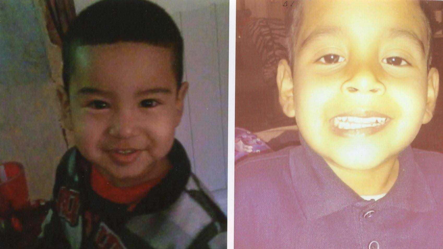 5 year-old Cesar Mazariegos and 2 year-old Angel Mazariegos