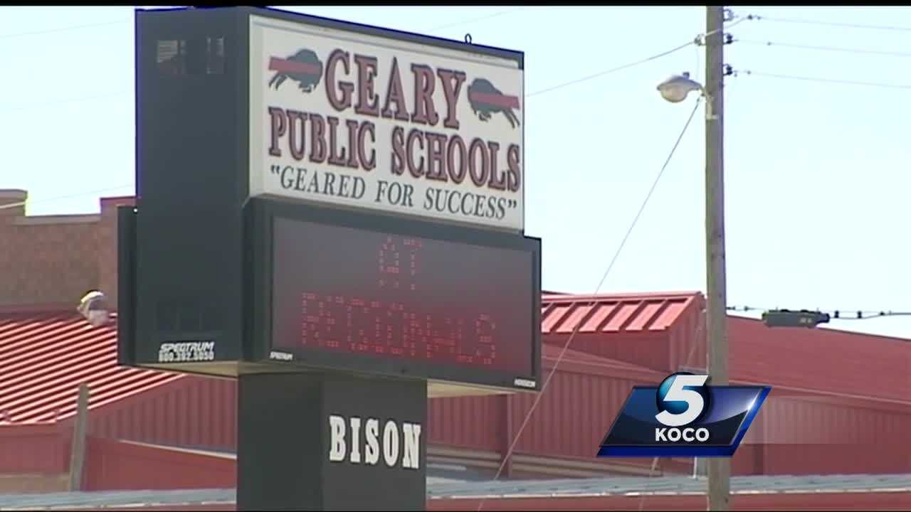 The Oklahoma State Bureau of Investigation and Homeland Security are looking into a Geary High School wrestling coach who has been placed on administrative leave after the police department received a report that the coach was involved in inappropriate text messages with a minor.