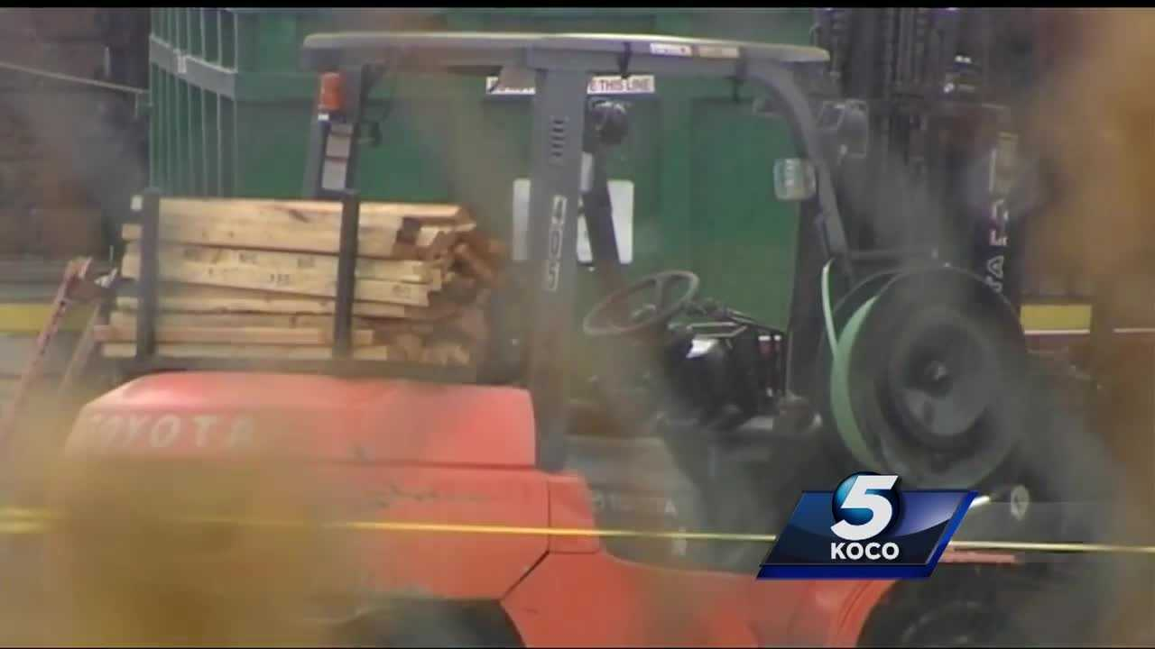 A forklift flipped over and killed a man Tuesday near Santa Fe and the Kilpatrick Turnpike.