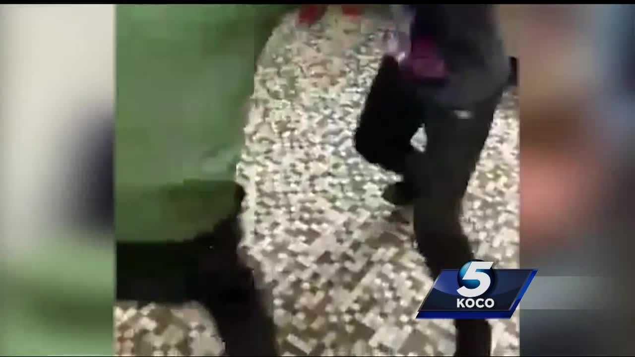 Although Putnam City Schools officials say a fight in a metro middle school's boys' bathroom that was caught on camera was an isolated incident, one parent says it is a daily occurrence that has her child afraid to go to school.
