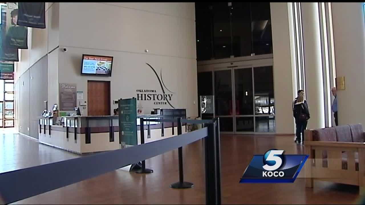 There are furloughs happening at the Historical Society in Oklahoma due to state budget cuts.