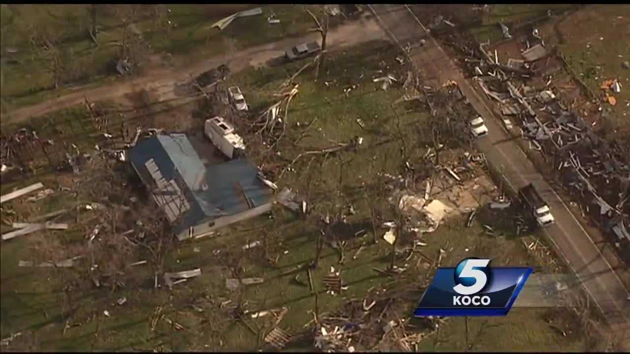 Parts of a north Tulsa neighborhood were reduced to piles of lumber by a tornado Wednesday. Sky 5 provided scenes across the Tulsa metro, where the power of Mother Nature was proven.