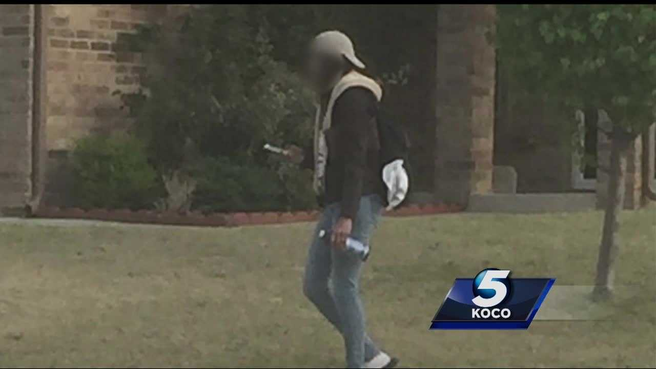 Police have been called to a north Oklahoma City neighborhood because a door-to-door salesman has been causing concerns for residents.