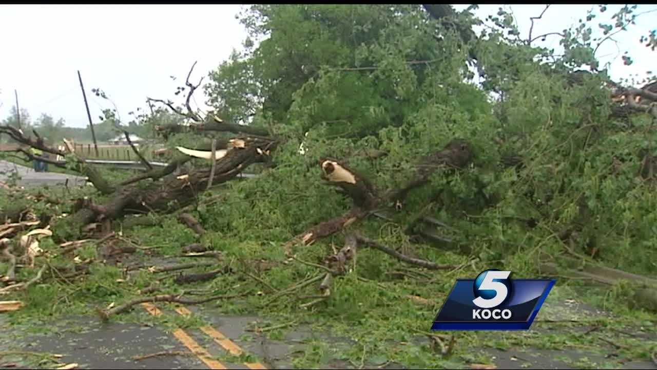 AN EF 0 tornado uprooted trees and twisted through Mustang properties Tuesday night. KOCO's Crystal Price has more from Southwest 44th and Morgan Road.