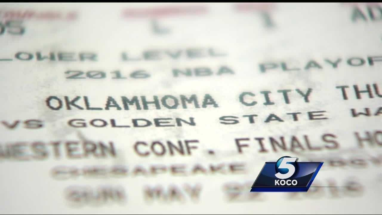 An Oklahoma City family spent hundreds of dollars on Thunder-Warriors tickets that turned out being fake.