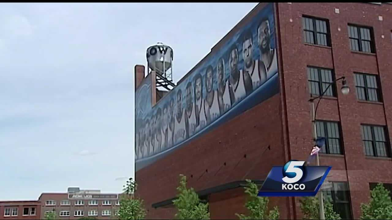 With the Thunder nearing the end of its series with the Golden State Warriors in the Western Conference Finals, Oklahoma City fans and businesses doing everything they can to Thunder Up.