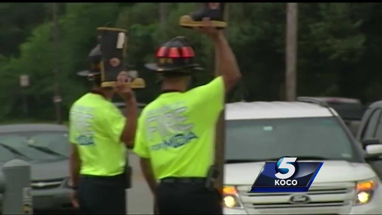 Collecting donations for the Fill-the-Boot campaign was hindered because of Oklahoma City's new panhandling ordinance. Firefighters saw a decline in fundraising efforts by 40 percent compared to last year.