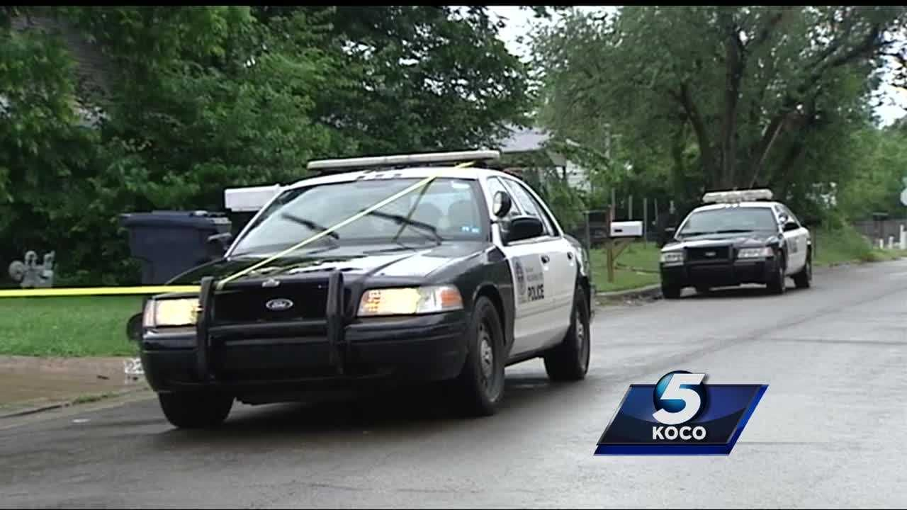 Police are searching for three men who are believed to be involved in an armed robbery Wednesday outside a southwest Oklahoma City home. The men got away with money and two vehicles.