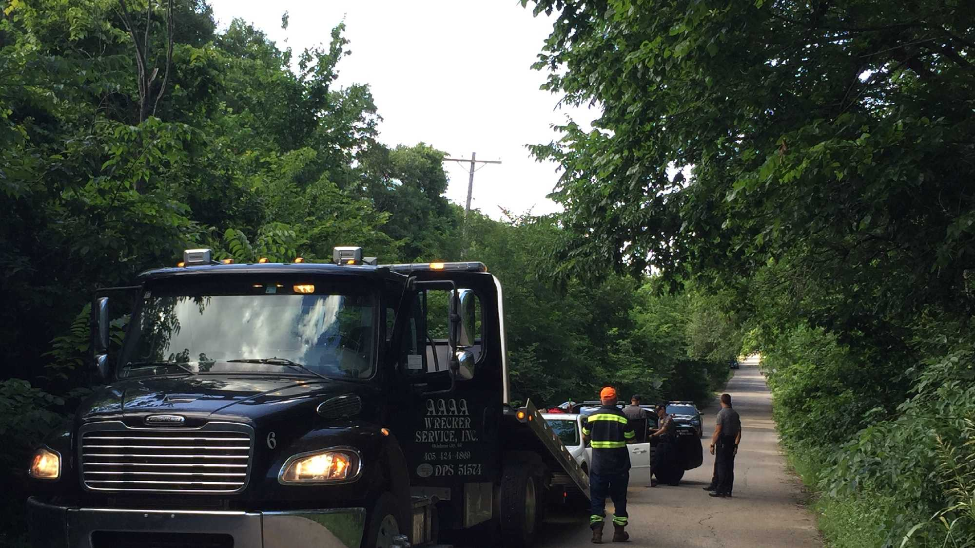 Oklahoma City police were involved in a chase that lasted about 10 minutes Saturday.