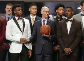University of Oklahoma star Buddy Hield was selected sixth overall by the New Orleans Pelicans in the NBA draft Thursday night.
