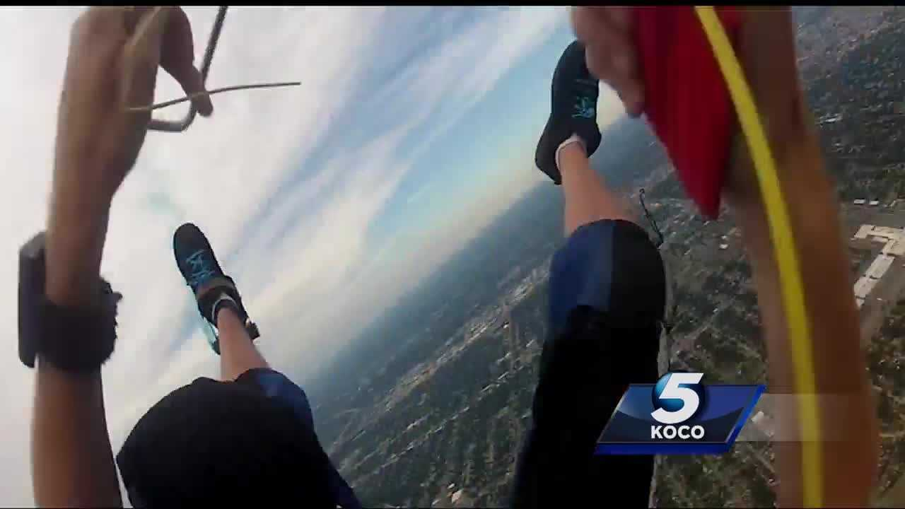 An Oklahoma man's parachute malfunctioned while he was on the way down. He survived, but terrifying video shows the incident play out. He told his incredible story to KOCO's Patrina Adger. Contact Daniel Herndon at 918-236-0479 or at Herndonwashere@yahoo.com if you know where he lost skydiving equipment is.