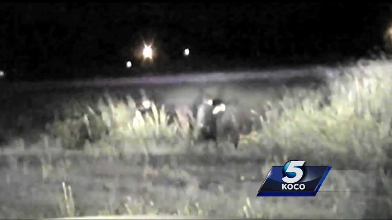 Dash cam video shows tense moments following a wild chase through Chickasha from over the weekend.