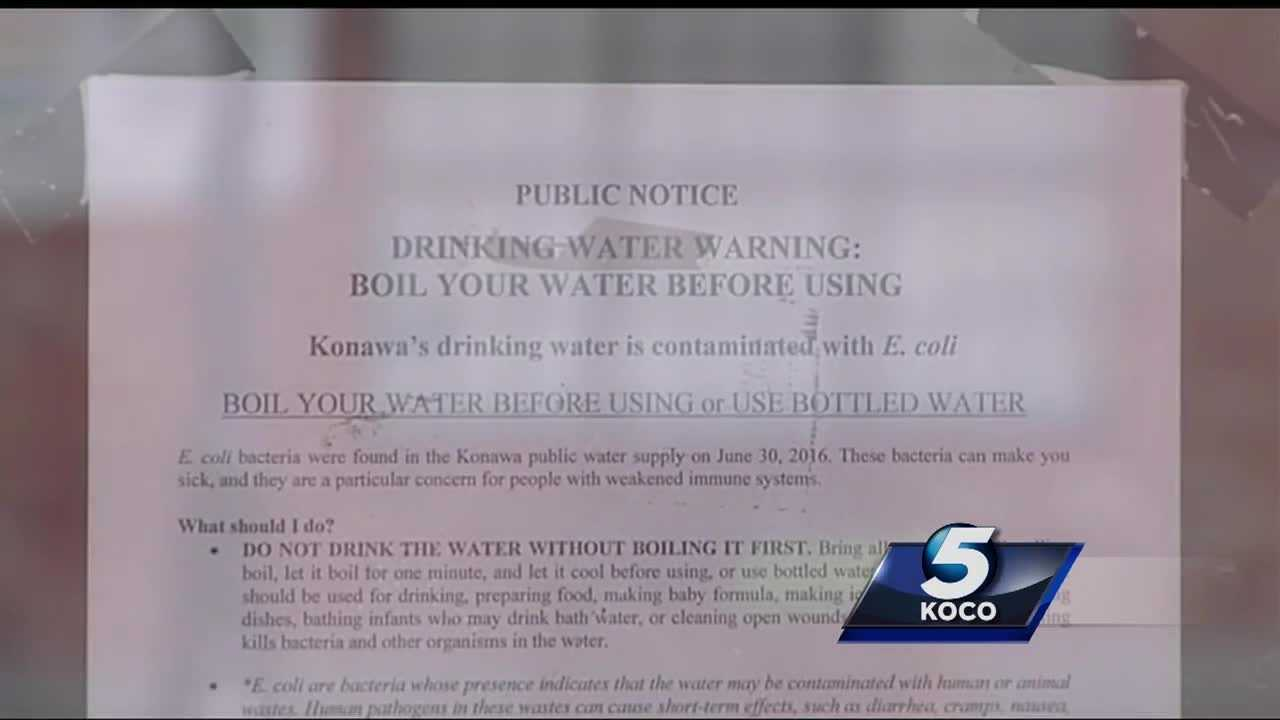 Water woes are plaguing an Oklahoma town. For the second time in a year, the water is undrinkable because of E. coli. The dangerous water is getting people in Konawa sick.