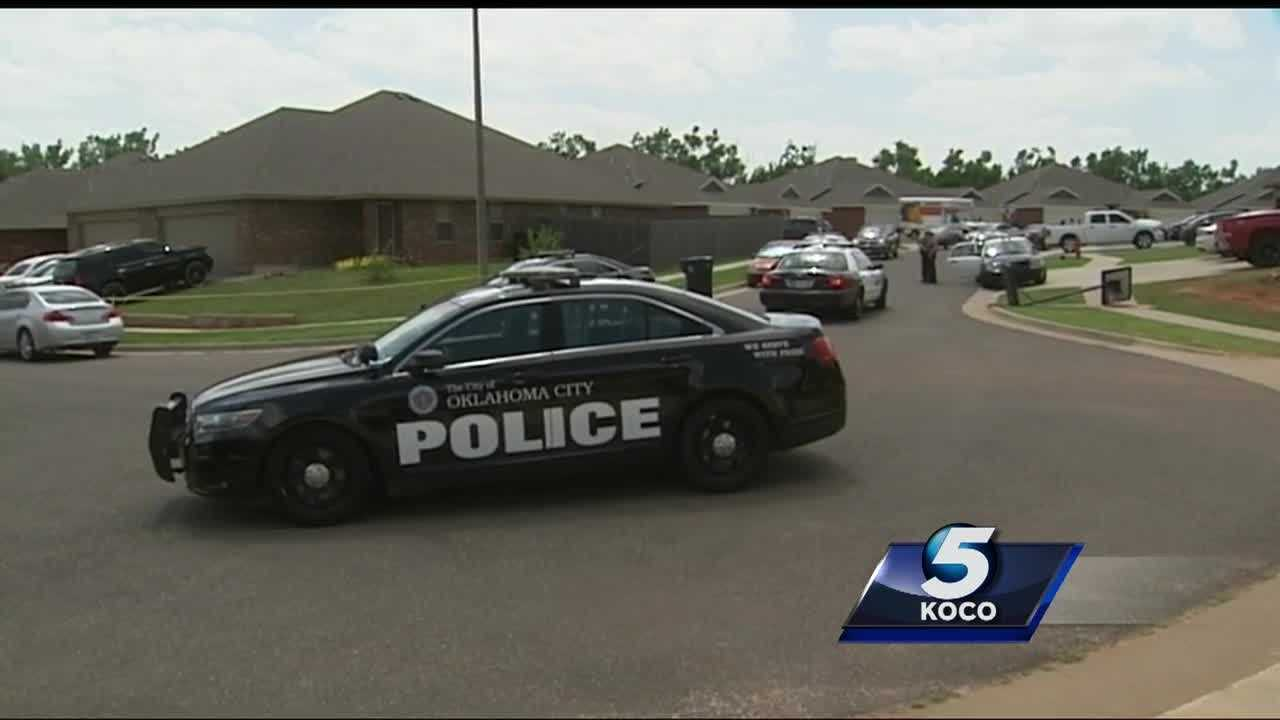 Bullets were fired after intruders came across the homeowner in a northwest Oklahoma City home invasion. Two people were shot and one is on the run after the incident  near Northwest 36th and Sara Road.