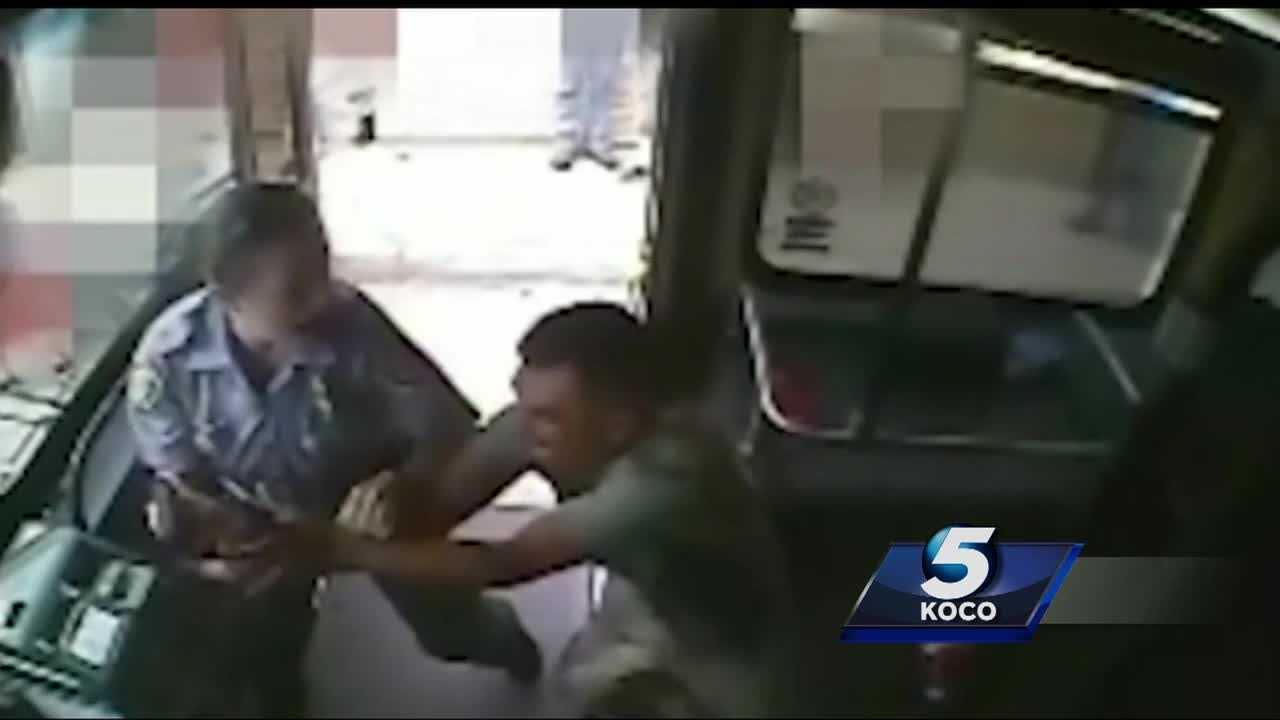 A deadly struggle on an Oklahoma City bus was caught on camera. The suspect shot and killed after trying to grab the officer's gun.