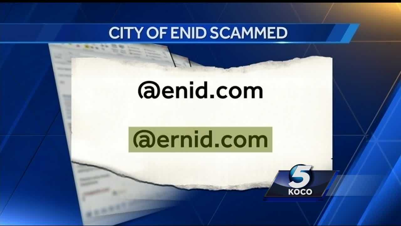 The city of Enid was scammed out of more than $30,000. A city employee duped by a scammer.