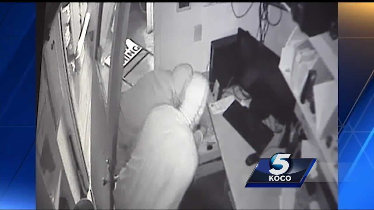 Two hooded men were seen pushing their way into the office of a popular barbecue restaurant. The whole thing was caught on camera. KOCO's Kelsey Powell has more on what happened inside Van's Pig Stand.