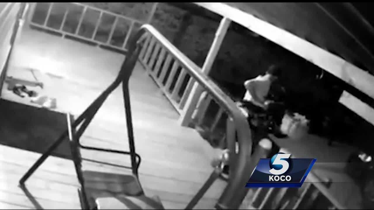 Police are looking for a man who was caught on camera stealing a minibike from a southwest Oklahoma City home's porch. The bike was a Christmas present and the boy's prized possession.
