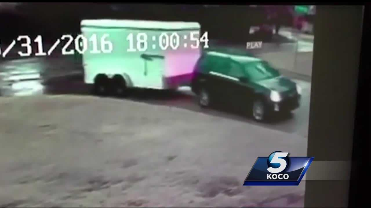 A thief stole more than a trailer from a metro firefighter while he was at work.