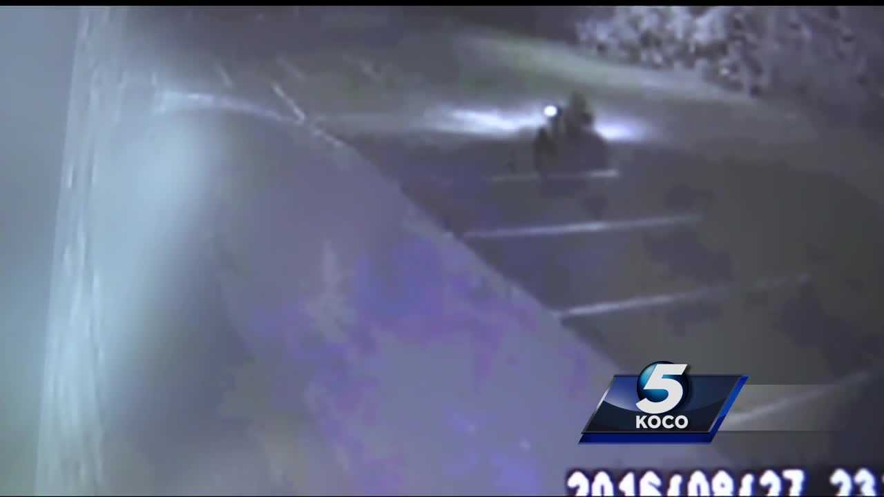Surveillance footage shows that two people broke into a northeast Oklahoma City church's shed and stole lawn equipment. One of the crooks was caught on camera driving off on a riding lawn mower that wouldn't fit in a pickup truck.