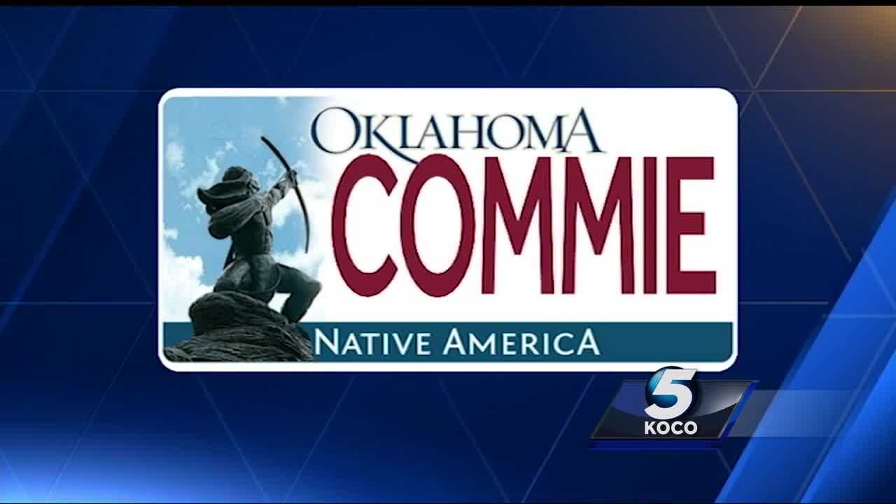 "The ACLU has filed a lawsuit against the Oklahoma Tax Commission because a man was not allowed to put ""COMMIE"" on an Oklahoma license plate."