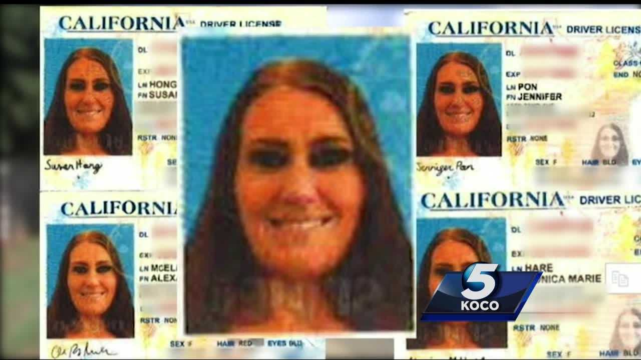 Edmond police arrested a woman who is said to be involved in an identity theft ring that spans multiple states.