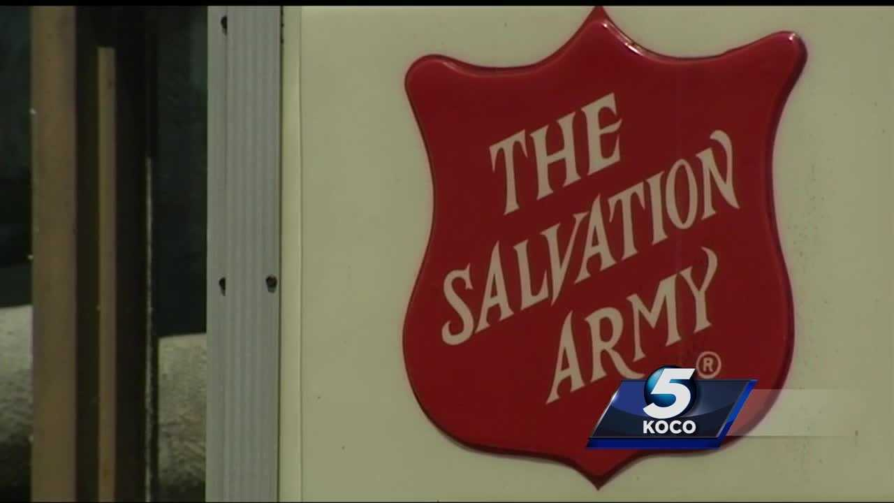 A person broke into a Salvation Army branch in Shawnee and stole hundreds of dollars in money and merchandise.