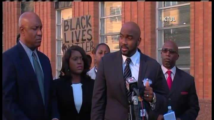 The family of Terence Cruthcer held a news conference Thursday evening about the district attorney's decision to charge a Tulsa police officer with first-degree manslaughter in connection with the deadly officer-involved shooting.