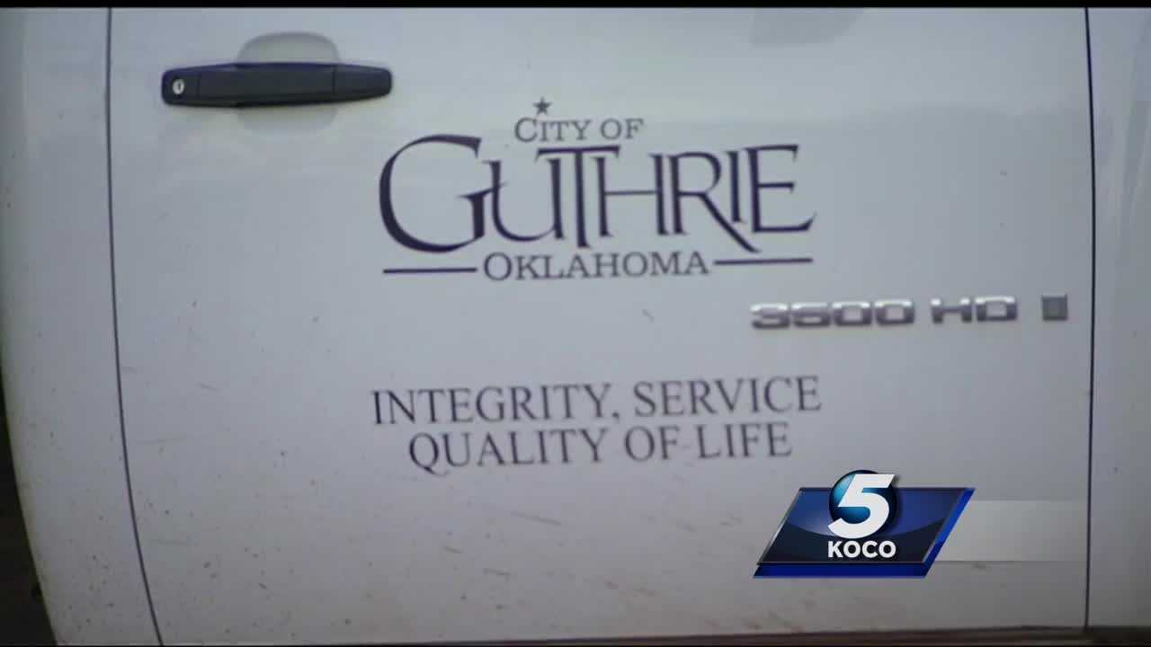 Some Guthrie residents and businesses have been without water Friday after a contract worker broke a water line.