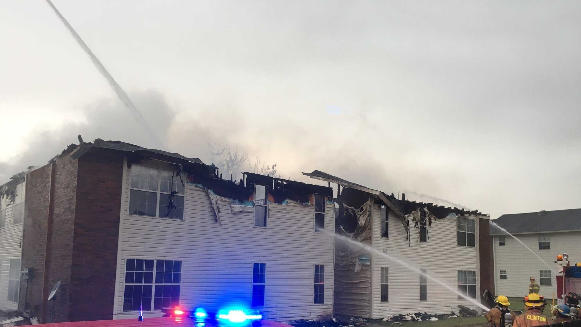 A fire at an apartment complex in Elk City may have been caused by lightning strike, officials said.