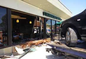"Sheila Cook, of Salinas, was one of the customers in Starbucks' outdoor sitting area when the crash happened.""It just breezed right by me just as fast as it could go,"" Cook said. ""The noise was unbelievable."""