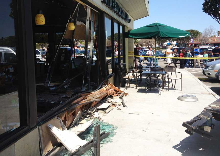 "There were about 20 customers and 10 Starbucks workers in the coffee shop when the crash happened.""This could have been a much, much worse event, especially if this happened a little bit earlier in the morning during the rush hour time at Starbucks,"" Salinas Fire Chief Brett Loomis said."