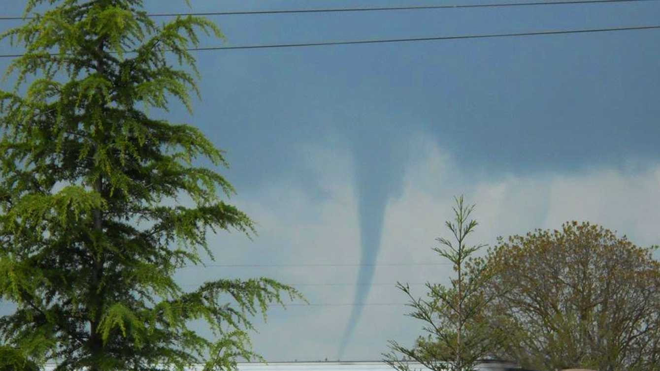 This tornado formed near Stockton on Wednesday. (April 12, 2012)
