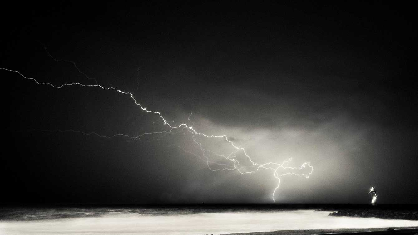 Last year, Santa Cruz photographer Ben Ingram shot this photo of lightening from Twin Lakes State Beach.